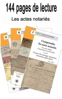 Lot Les actes notariés