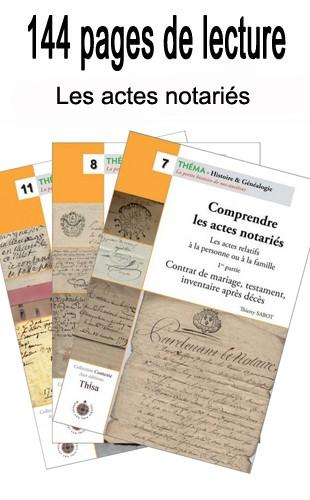 Les actes notariés