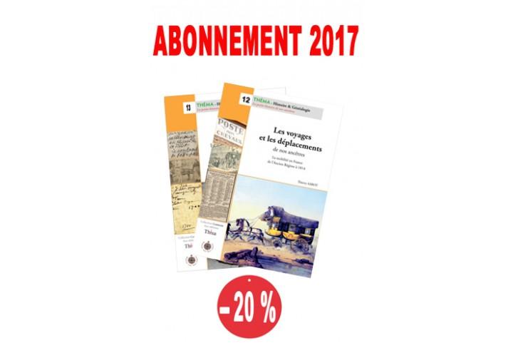 Abonnement Théma  2017 : n° 12 & 13