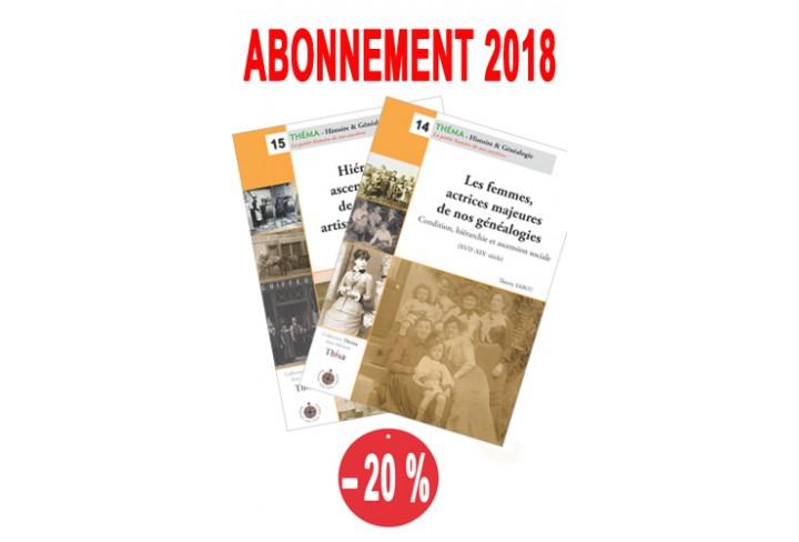 Abonnement Théma  2018 : n° 14 & 15