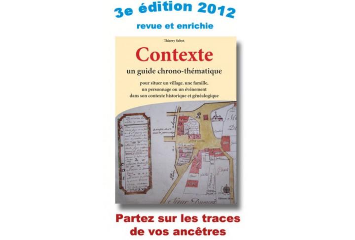 Contexte, guide chrono-thématique (ouvrage déclassé)